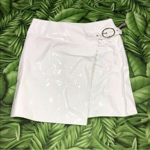 Missguided Patent leather mini skirt